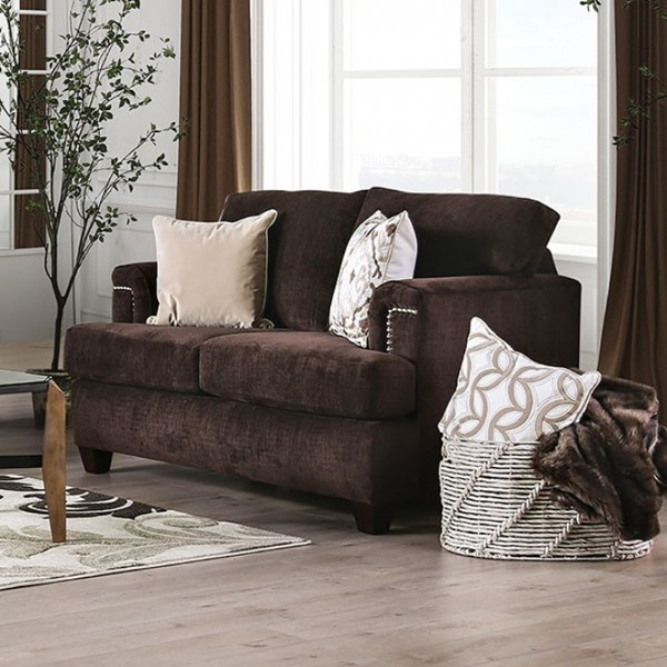 Furniture Of America Brynlee Chocolate Love Seat FOA-SM6410-LV