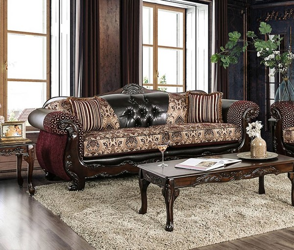 Furniture of America Quirino Sofas FOA-SM6415-SF-VAR