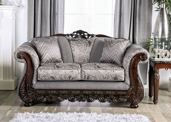 Furniture of America Newdale Gray Loveseat FOA-SM6424-LV