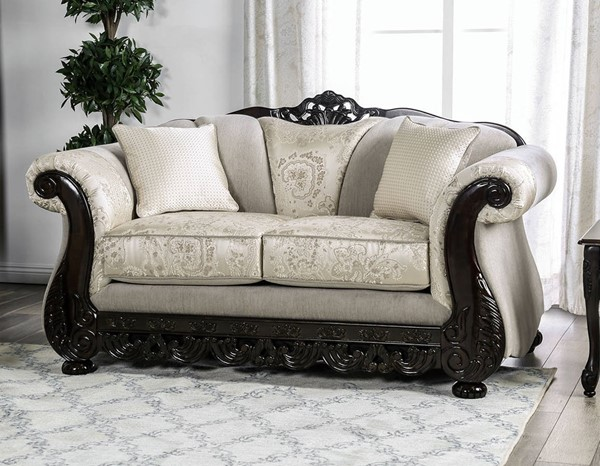 Furniture of America Newdale Ivory Loveseat FOA-SM6425-LV