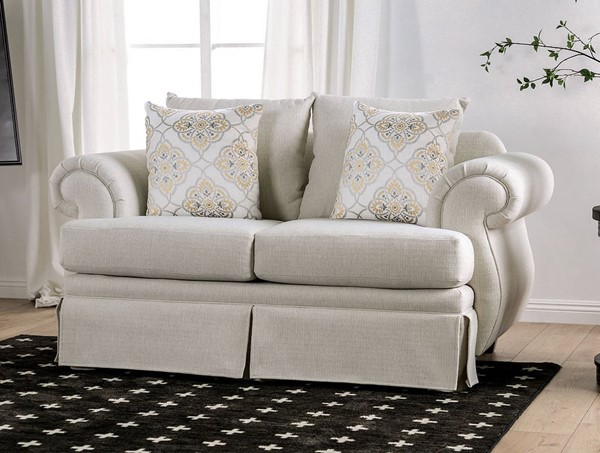 Furniture of America Bergen Ivory Loveseat FOA-SM6428-LV