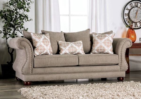 Furniture of America Nelson Gray Sofa FOA-SM6429-SF