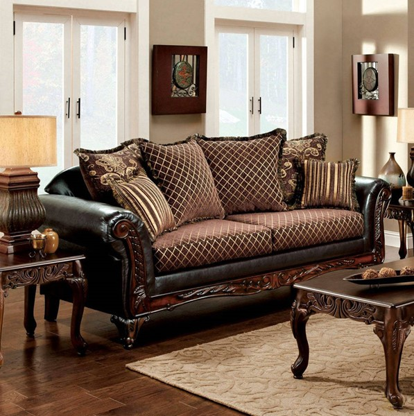Furniture of America San Roque Sofa FOA-SM7635-SF