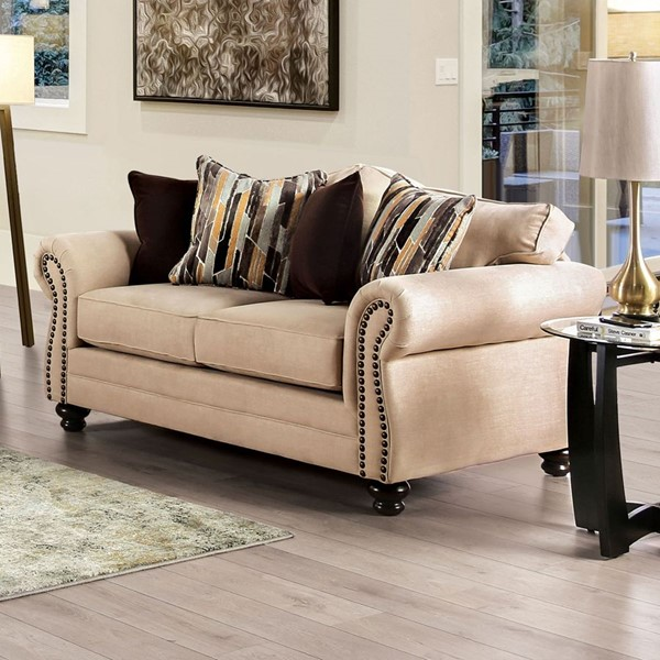 Furniture of America Kailyn Sand Brown Loveseat FOA-SM8008-LV