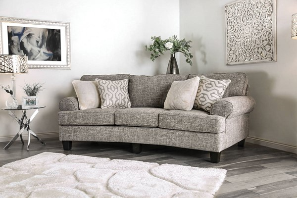 Furniture of America Pierpont Gray Sofa FOA-SM8012-SF