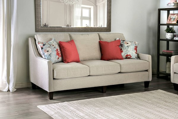 Furniture of America Nadene Ivory Sofa FOA-SM8014-SF