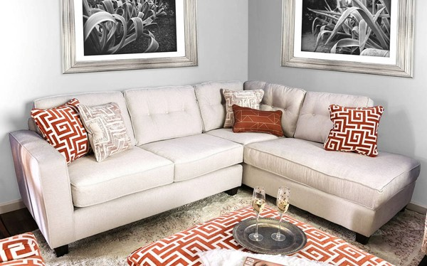 Furniture of America Esmay Ivory Sectional FOA-SM8115-SECT