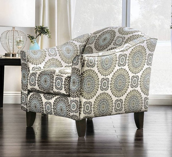 Furniture of America Misty Ivory Floral Chair FOA-SM8141-CH-FL