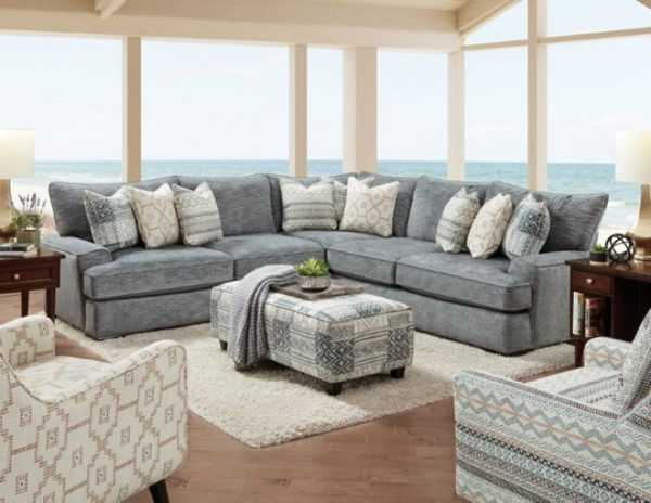 Furniture of America Eastleigh Tan Sectional FOA-SM8186-SECT