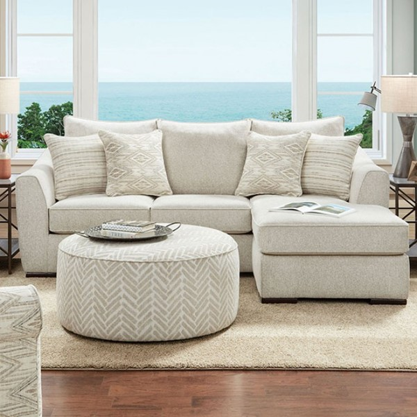 Furniture of America Saltney Ivory Sectional FOA-SM8192