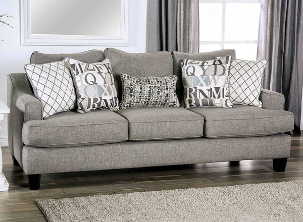 Furniture of America Verne Bluish Gray Sofa FOA-SM8330-SF