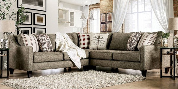 Furniture of America Fillmore Warm Gray Sectional FOA-SM8351-SECT