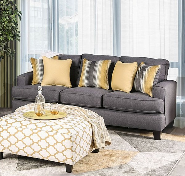 Furniture of America Orson Gray Sofa FOA-SM8600-SF