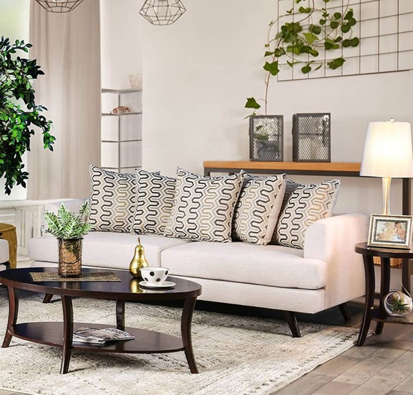Furniture of America Blaenavon Beige Sofa FOA-SM8827-SF