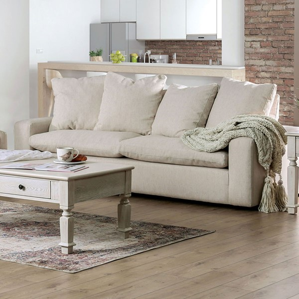 Furniture Of America Acamar Cream Gray Loveseats FOA-SM910-LS-VAR