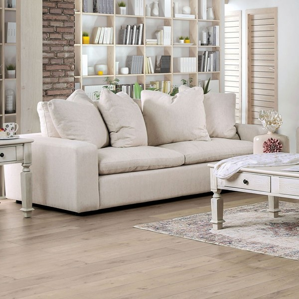 Furniture Of America Acamar Cream Gray Sofas FOA-SM910-SF-VAR