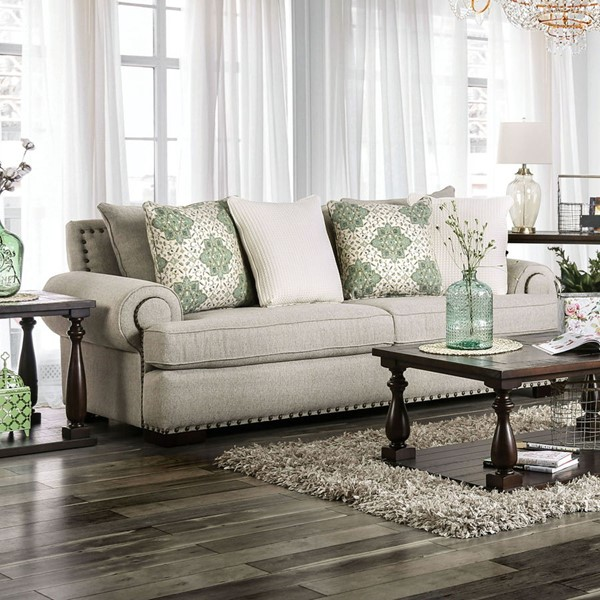 Furniture Of America Yates Brown Sofa FOA-SM9106-SF