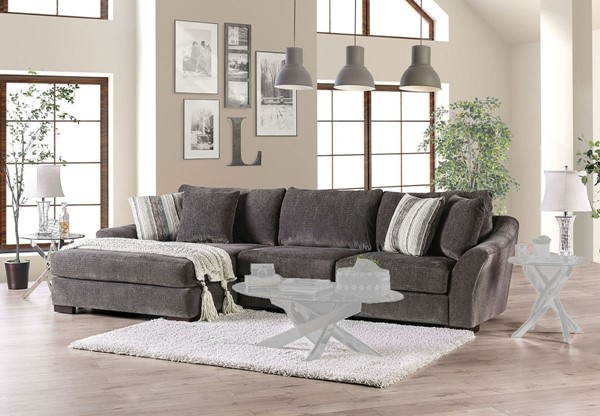 Furniture Of America Sigge Charcoal Sectional FOA-SM9109-SECT