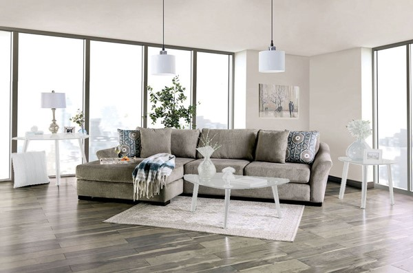Furniture of America Sigge Light Gray Sectional FOA-SM9110-SECT
