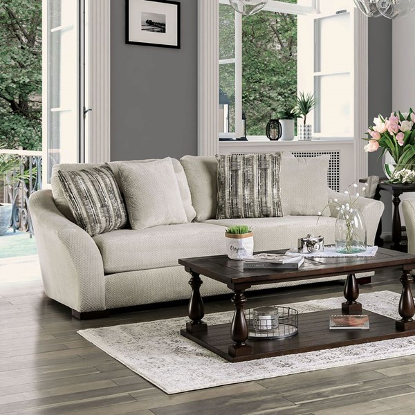 Furniture Of America Oacoma Gray Ivory Sofas FOA-SM911-SF-VAR