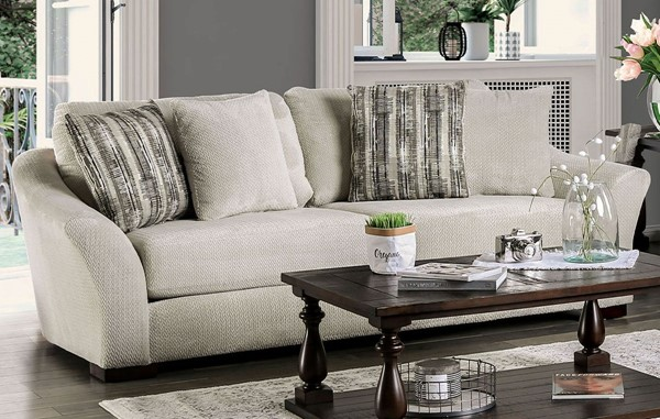 Furniture Of America Oacoma Ivory Sofa FOA-SM9113-SF