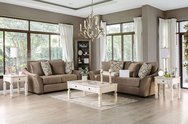 Furniture Of America Oacoma Gray 2pc Living Room Set FOA-SM9114-2PC