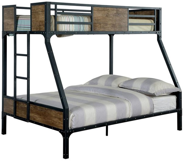 Furniture of America Clapton Twin Over Full Bunk Bed FOA-CM-BK029TF