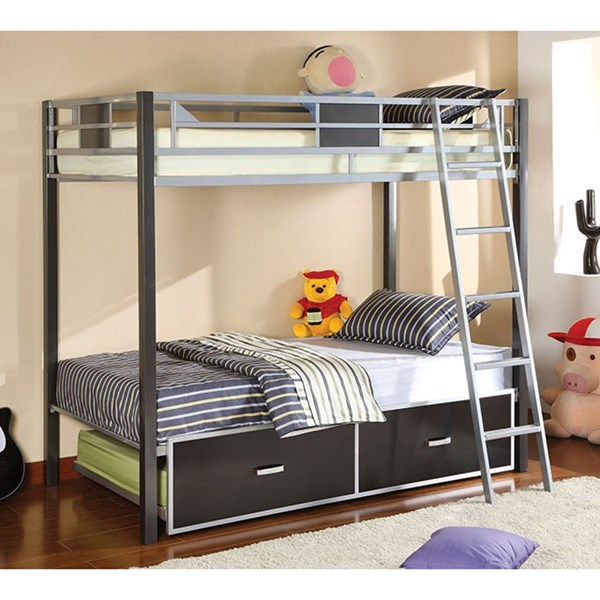 Furniture of America Cletis Drawers Bunk Beds FOA-CM-BK101-DR-BBED-VAR