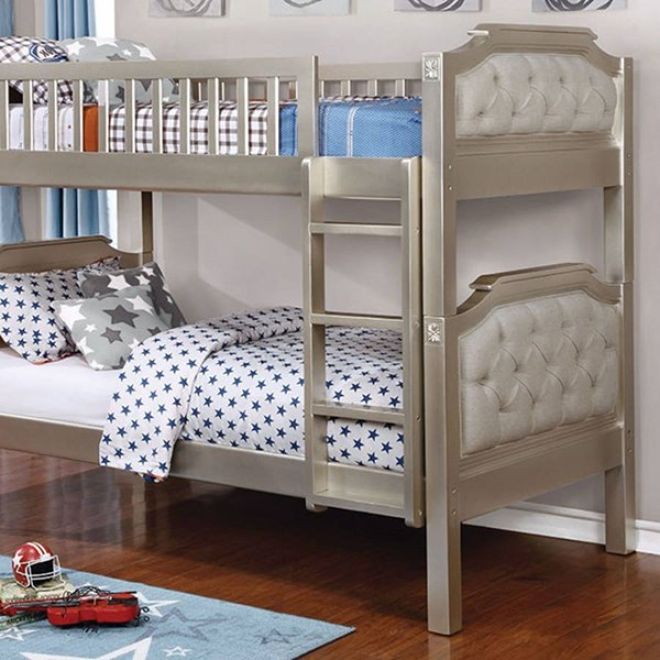 Furniture of America Beatrice Twin Over Twin Bunk Bed FOA-CM-BK717-BED