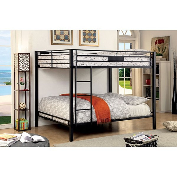 Furniture of America Claren Queen Over Queen Bunk Bed FOA-CM-BK939QQ-BED