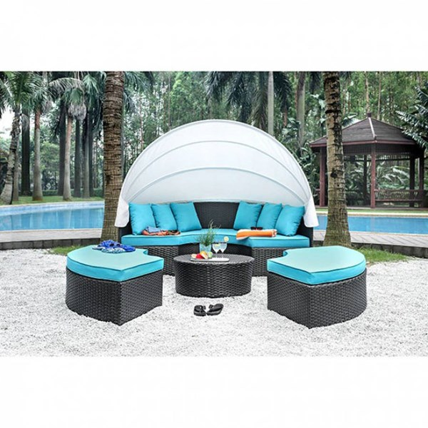 Furniture of America Aria Patio Canopy Daybed FOA-CM-OS2117-SET