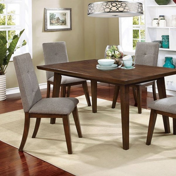 Furniture of America Abelone Walnut Dining Table FOA-CM3354T