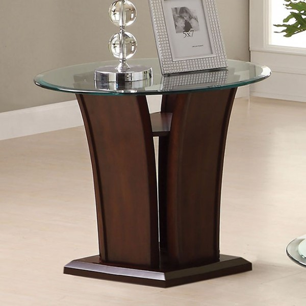 Furniture Of America Manhattan IV Brown Cherry End Table FOA-CM4104E