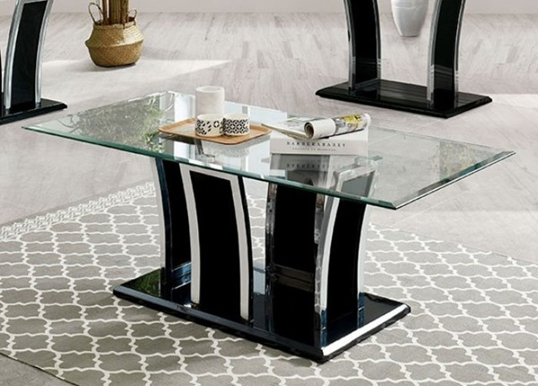 Furniture of America Staten Glossy Black Coffee Tables FOA-CM4372-CT-VAR