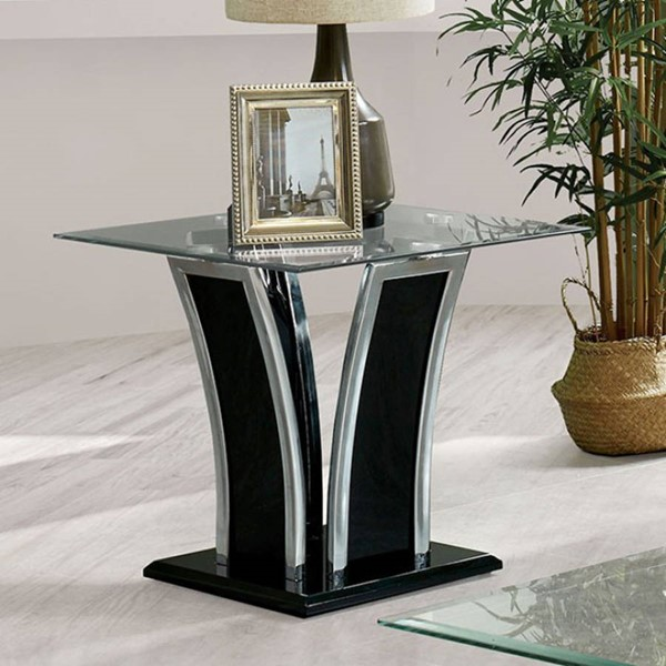 Furniture of America Staten Glossy Black End Tables FOA-CM4372-ET-VAR