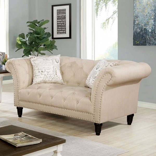 Furniture Of America Louella Beige Loveseat FOA-CM6210BG-LV