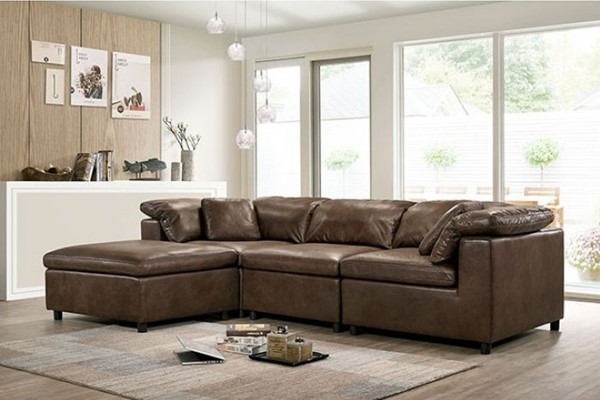 Furniture Of America Tamera Brown Sectional FOA-CM6472-SECT-S
