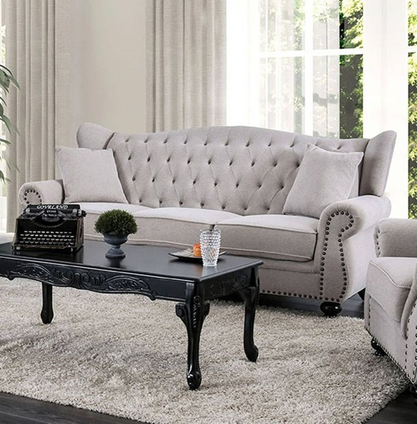 Furniture Of America Ewloe Light Gray Sofa FOA-CM6572GY-SF