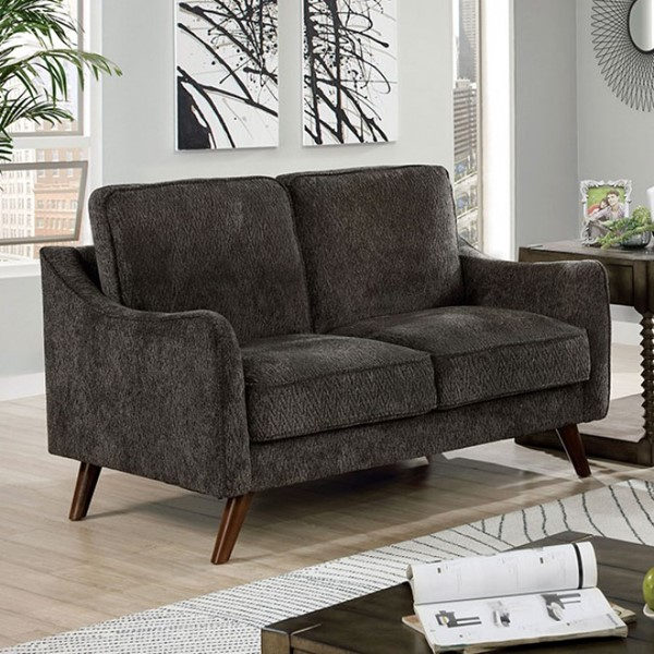 Furniture Of America Maxime Dark Gray Loveseat FOA-CM6971DG-LV