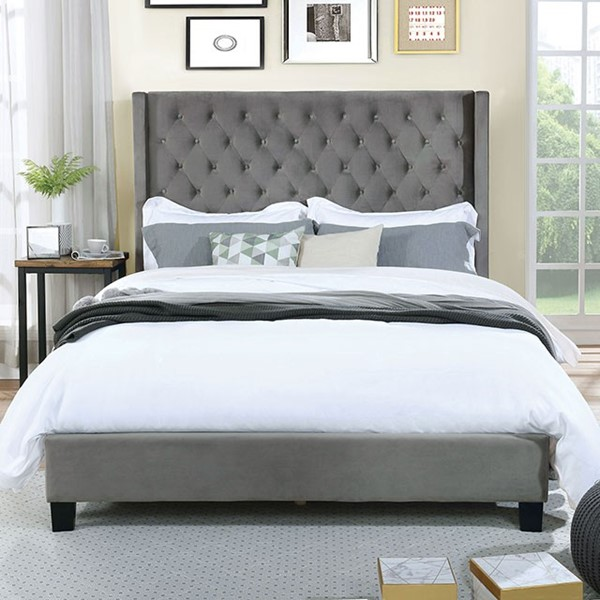 Furniture Of America Ryleigh Gray King Bed FOA-CM7141GY-EK-BED