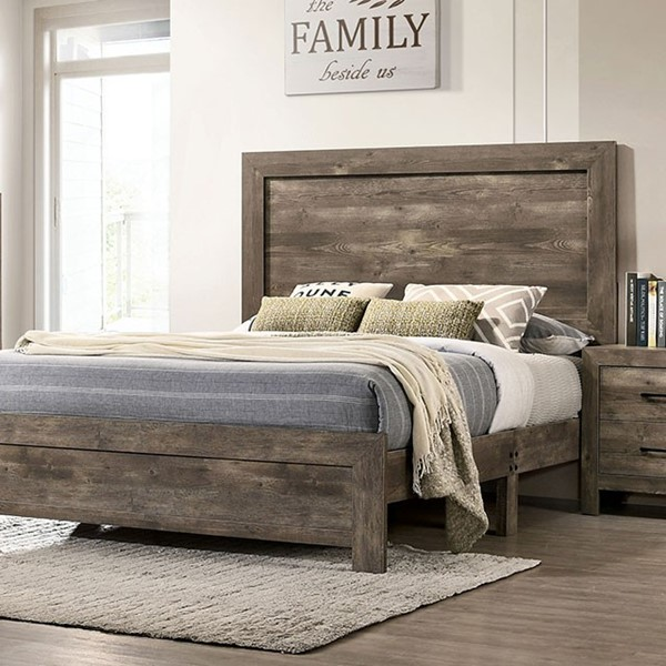 Furniture Of America Larissa Natural Tone Queen Bed FOA-CM7148Q