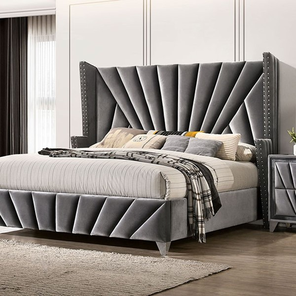 Furniture Of America Carissa Gray Beds FOA-CM7164-BED-VAR