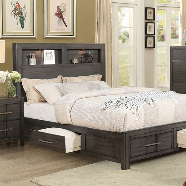 Furniture of America Karla Gray Queen Bed FOA-CM7500GY-Q-BED