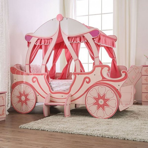 Furniture Of America Arianna Light Pink Twin Bed FOA-CM7630-BED