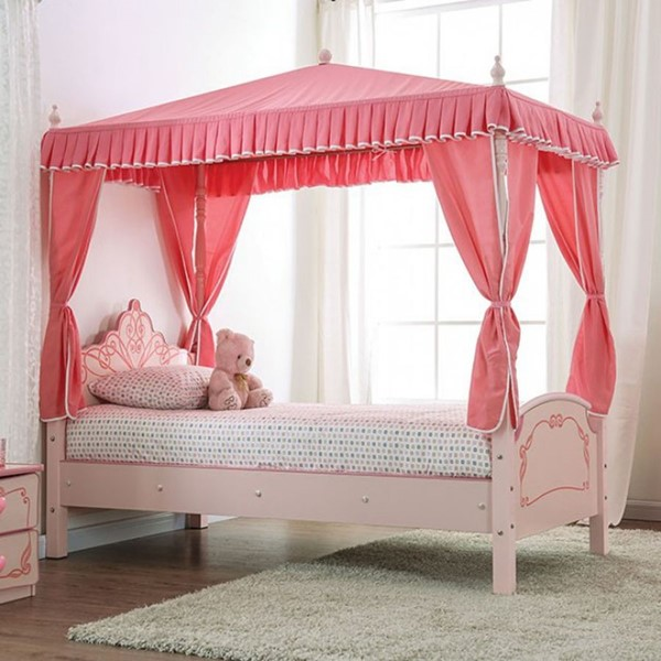 Furniture Of America Rheanna Light Pink Twin Bed FOA-CM7631-BED