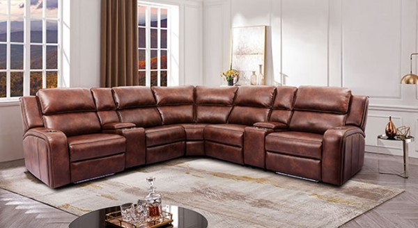 Furniture Of America Callie Brown Power Sectional FOA-CM9901-SECT
