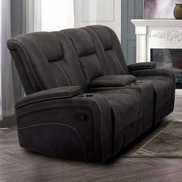 Furniture Of America Amirah Dark Gray Glider Loveseat FOA-CM9903-LV