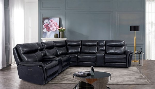 Furniture Of America Braylee Dark Navy Power Sectional FOA-CM9904-SECT