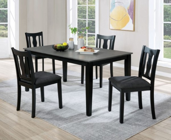 Furniture Of America Carbey Black Gray 5pc Dining Room Set FOA-3488T-5PK