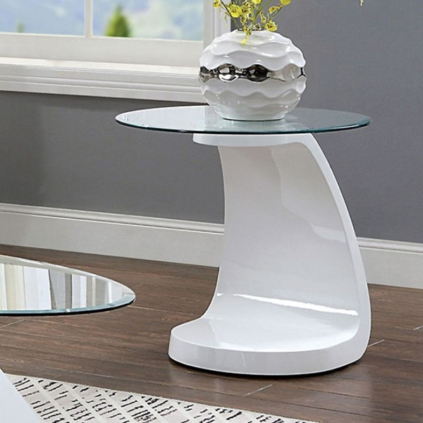Furniture Of America Nahara White End Table FOA-4042WH-E-TABLE